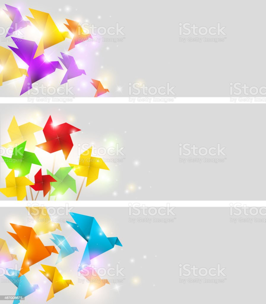 Banners with origami royalty-free banners with origami stock vector art & more images of backgrounds