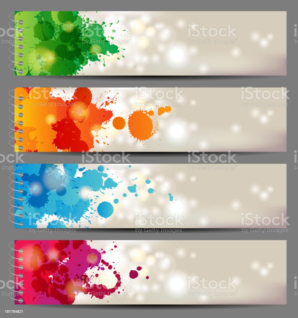 banners with splashing paints royalty-free banners with splashing paints stock vector art & more images of abstract