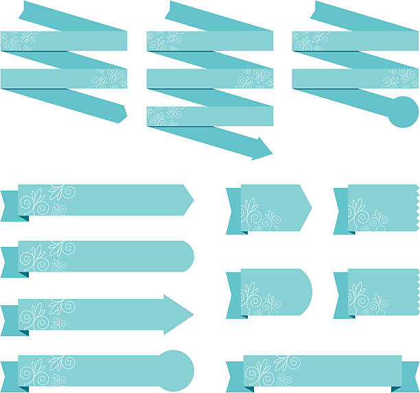 Banners with textured detail vector art illustration