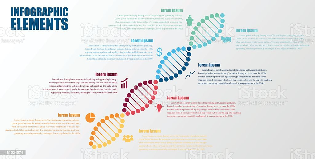 DNA banner.science infographics. Vector illustration vector art illustration