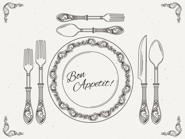 Top 60 Empty Plate With Knife Fork And Spoon Clip Art