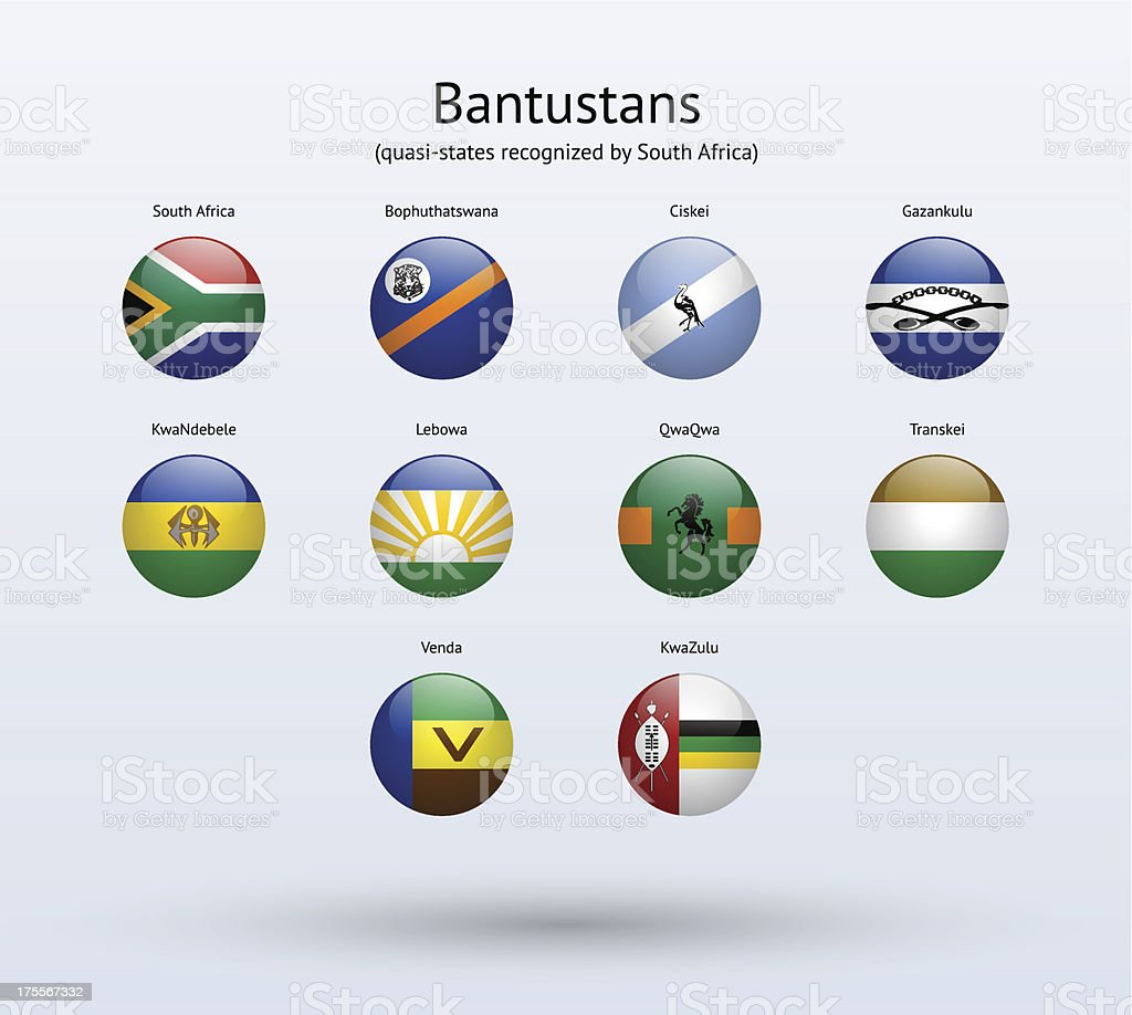 Bantustans Round Flags Collection royalty-free bantustans round flags collection stock vector art & more images of bophuthatswana