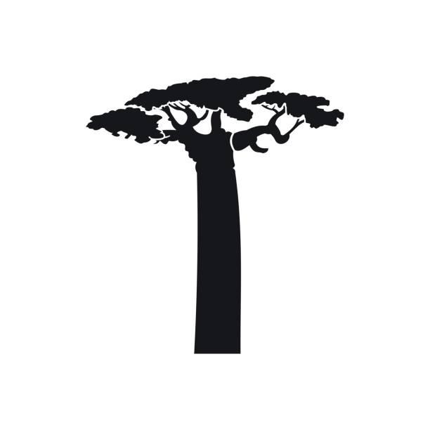 Icono de árbol Baobab en estilo sencillo - ilustración de arte vectorial