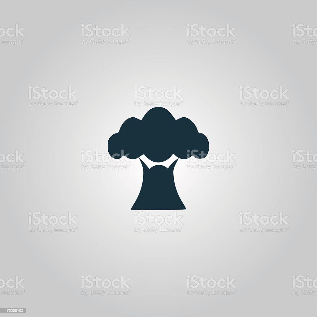 Baobab tree icon vector art illustration