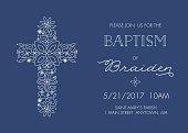 Baptism, Christening, Communion, Confirmation Invite - Invitation Template - Vector