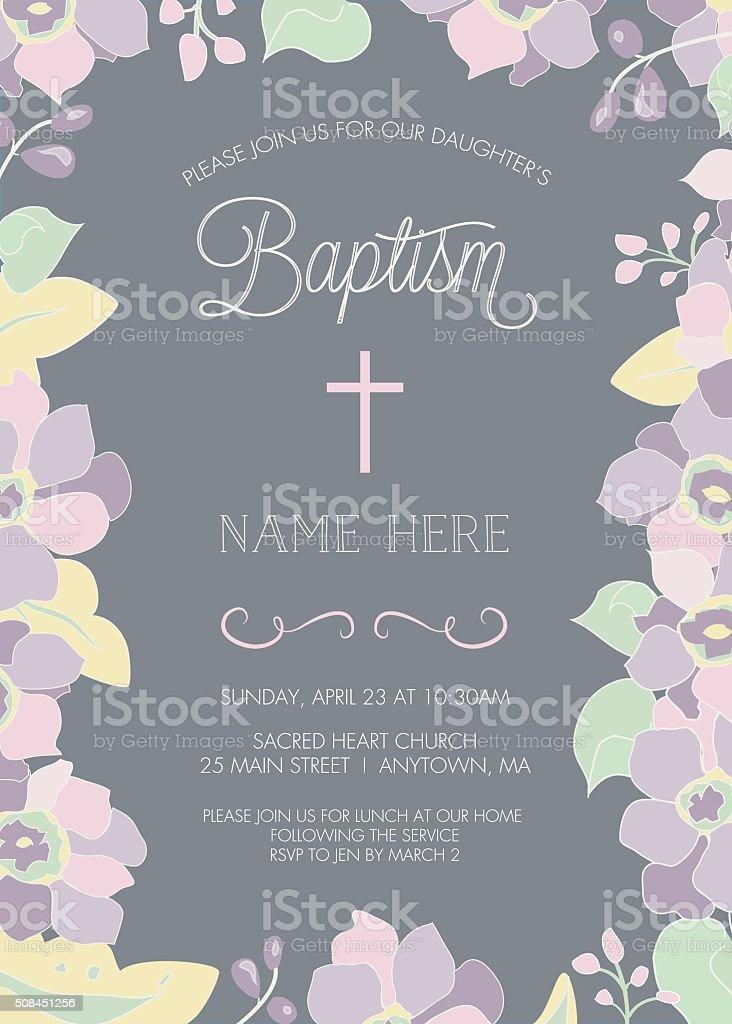 Batismo, Batismo, modelo de convite primeira Comunhão sagrada-VETOR - ilustração de arte vetorial