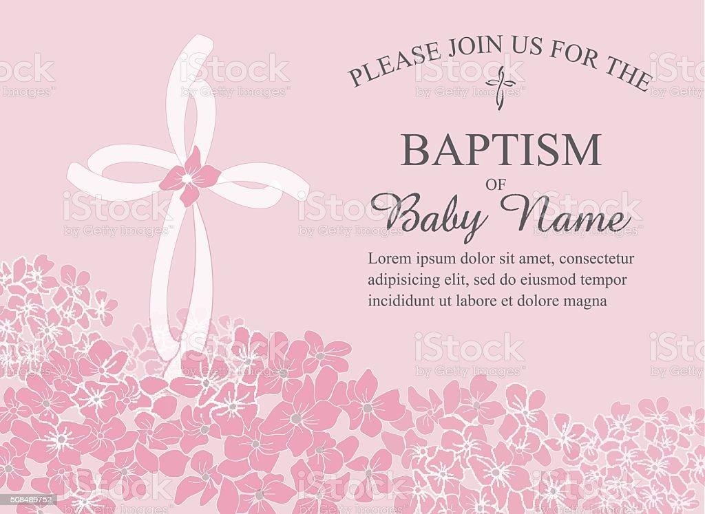 Clip Art For Baptism Invitations Clipart Vector Design