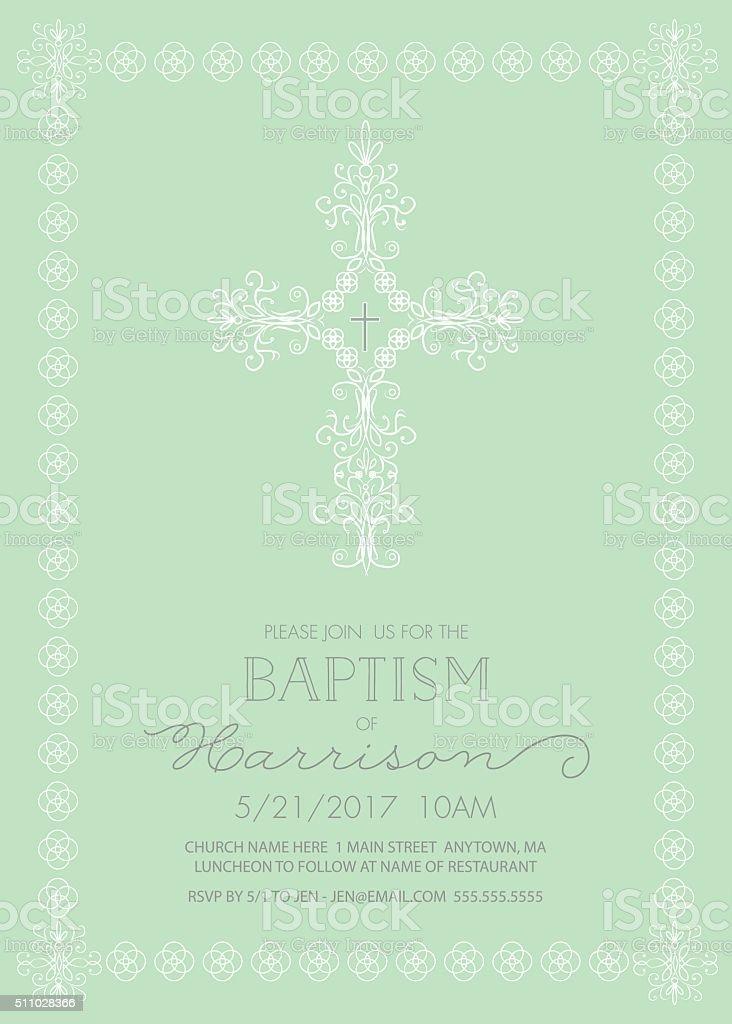 Batismo, Christening ou modelo de convite primeira Comunhão-VETOR - ilustração de arte vetorial