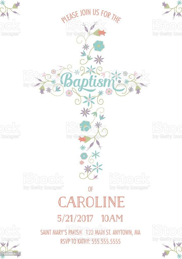 Baptism Christening Religious Occasion Invite Invitation Template
