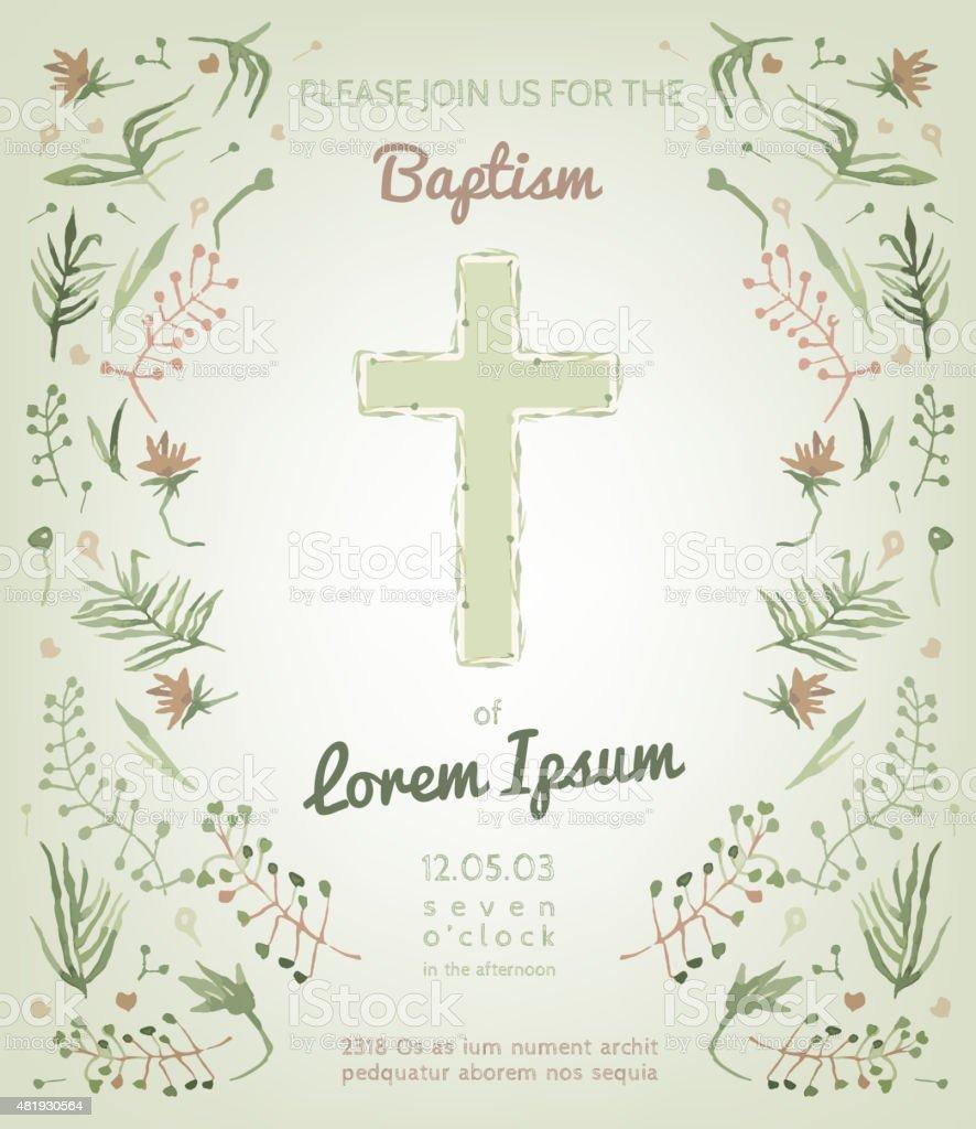 Baptism invitation card stock vector art more images of 2015 baptism invitation card royalty free baptism invitation card stock vector art amp more images stopboris Images