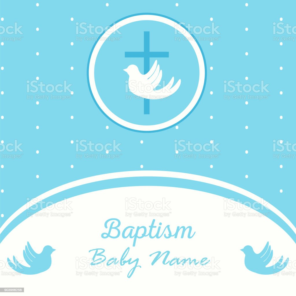 baptism invitation template vector art illustration