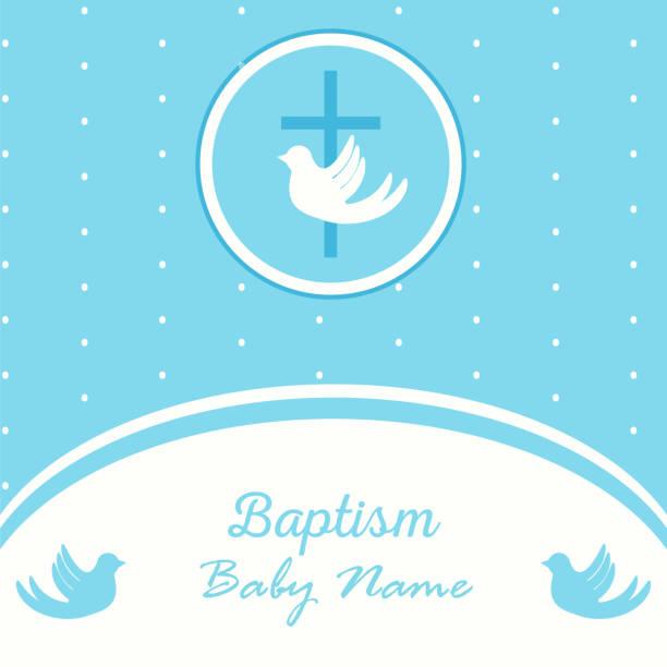 baptism invitation template - ilustração de arte vetorial