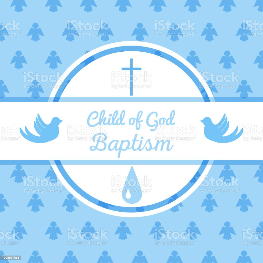 Baptism Invitation Template Stock Illustration - Download Image Now - iStock