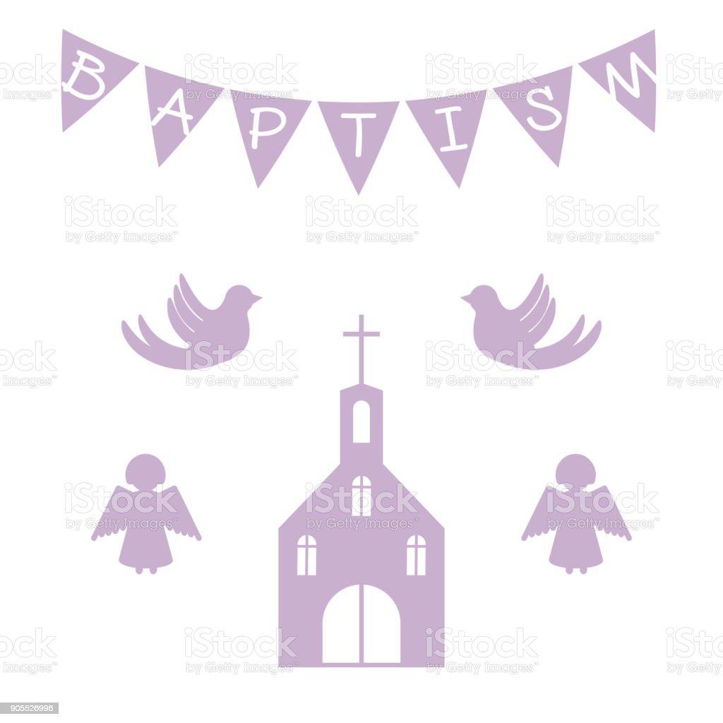 Baptism Invitation Template Stock Illustration - Download Image ...