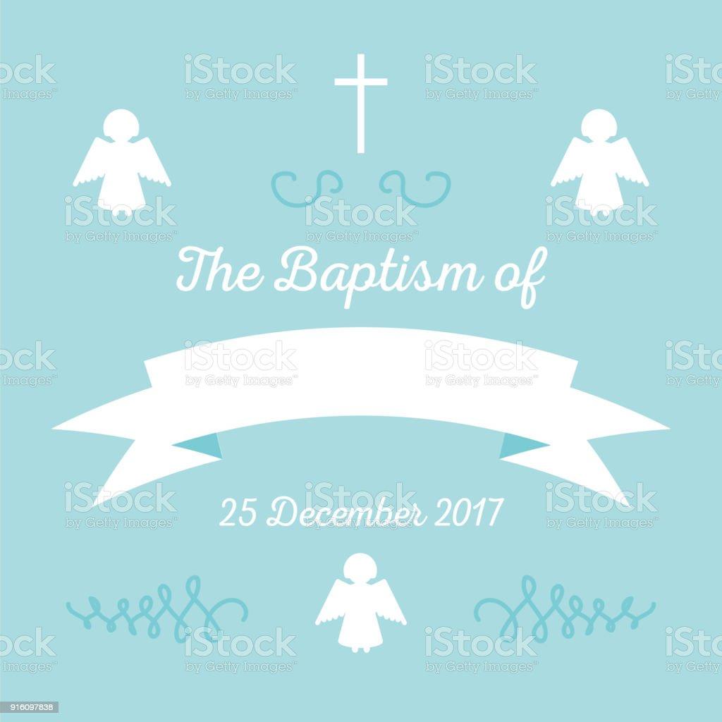 plantilla de invitación de bautismo - ilustración de arte vectorial
