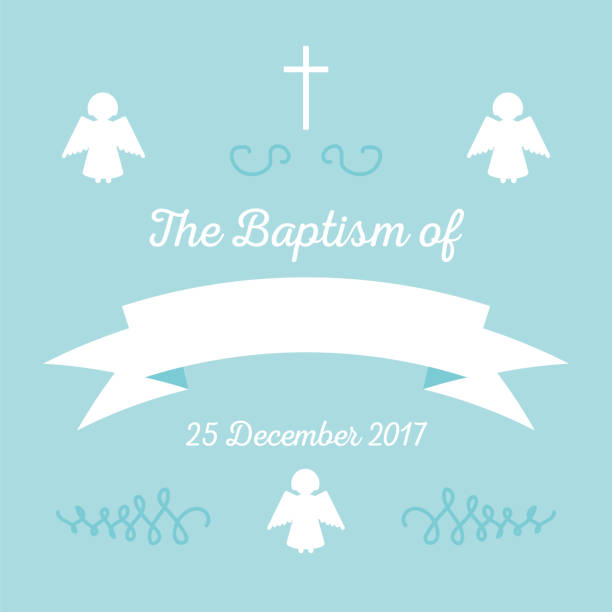 baptism invitation template - baptism stock illustrations, clip art, cartoons, & icons