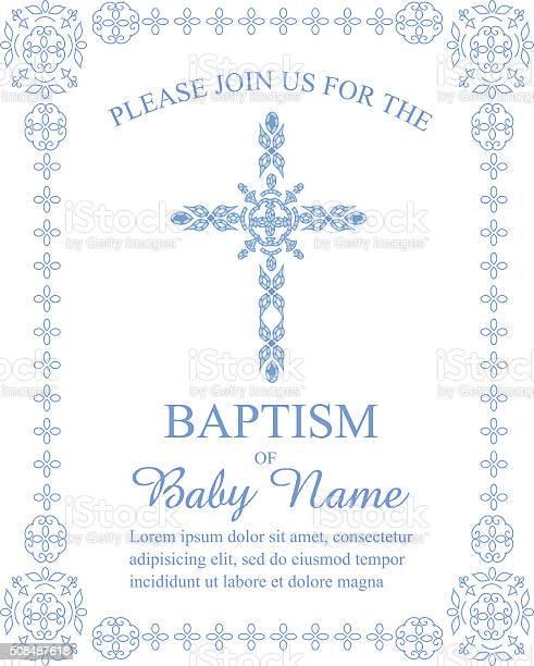 Baptism invitation template with ornate cross and border vector id508487618?b=1&k=6&m=508487618&s=612x612&h=ggaxsqs gvhfst2rzbo570lox af4d4kpihzz97aemm=