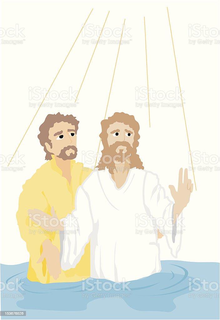 Taufe Jesu Stock Vektor Art Und Mehr Bilder Von Baptismus
