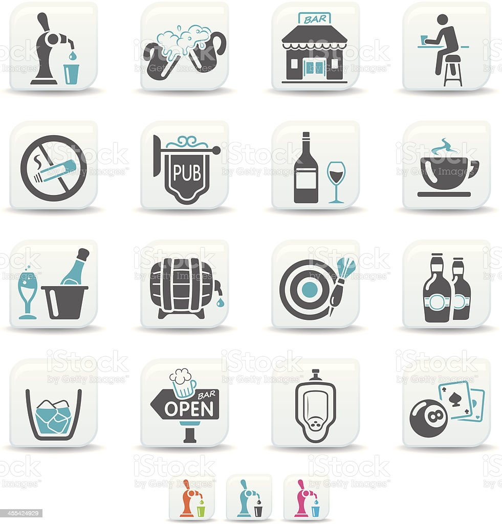 bar and pub icons | simicoso collection vector art illustration