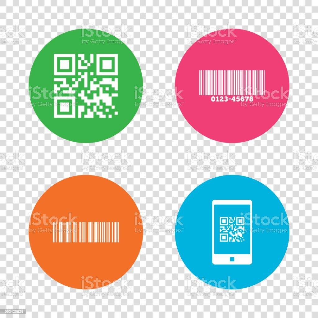 Bar code Qr icônes. Scannez le code-barres symbole. bar code qr icônes scannez le codebarres symbole – cliparts vectoriels et plus d'images de acheter libre de droits