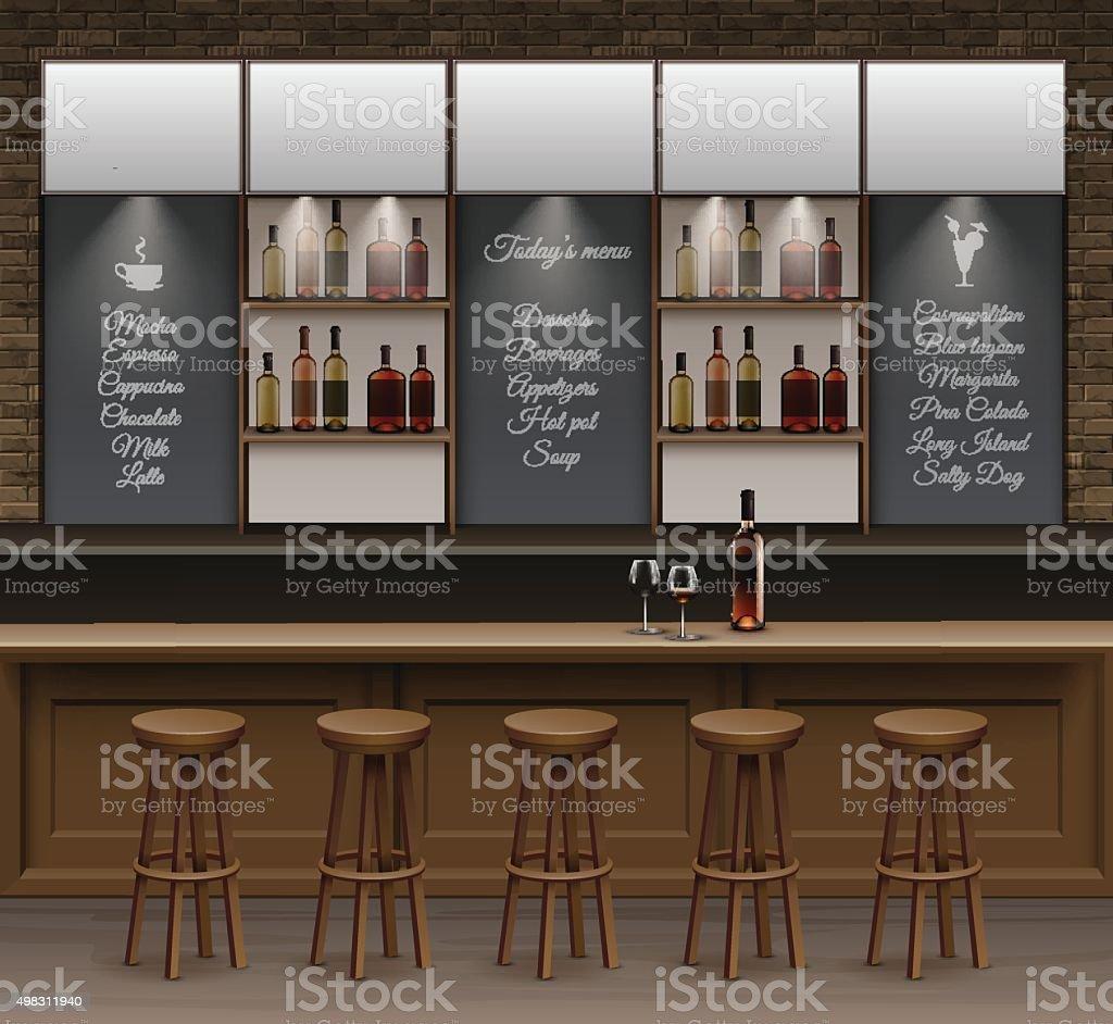 Bar Caf 233 Cerveja Cafeteria Balc 227 O De Vetor Mesa Interior