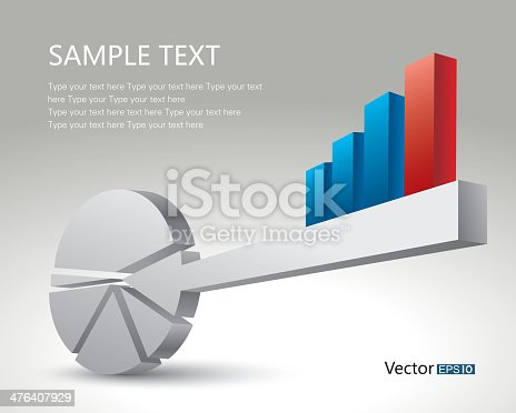 Bar Chart And Pie Chart Key Stock Vector Art More Images Of