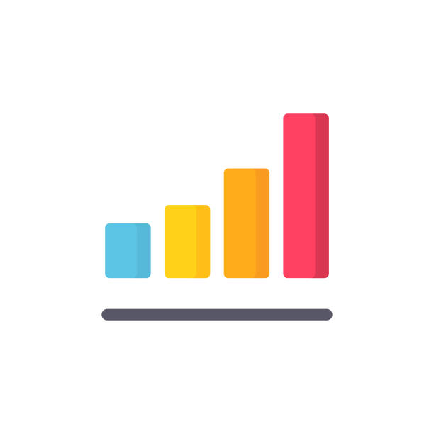 Bar Chart Flat Icon. Pixel Perfect. For Mobile and Web. Bar Chart Flat Icon. bar graph stock illustrations