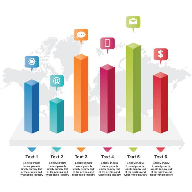 Bar Chart Graph Diagram Statistical Business Infographic Illustration Bar Chart Graph Diagram Statistical Business Infographic Illustration bar graph stock illustrations
