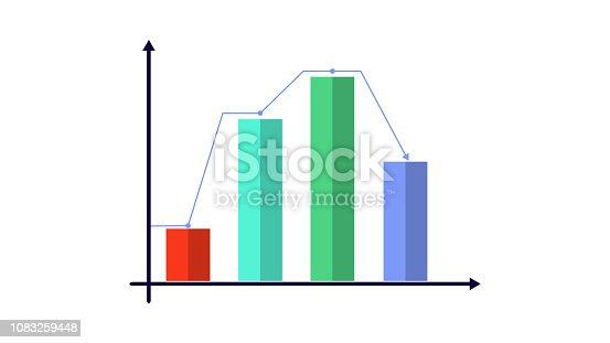 Bar chart graph progress