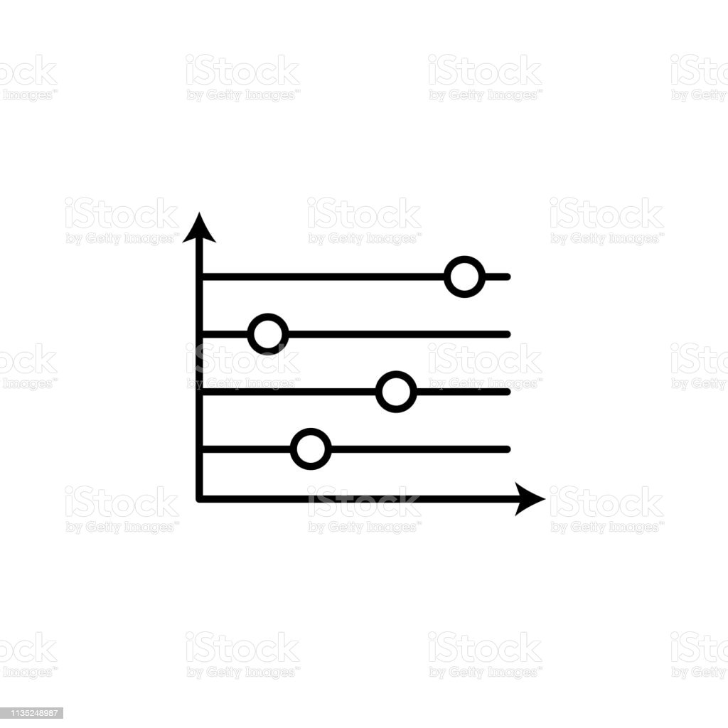 bar chart line icon. Element of chart icon for mobile concept and web...
