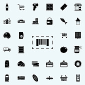 bar code icon. market icons universal set for web and mobile