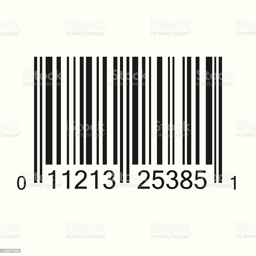 Bar Code Illustration vector art illustration