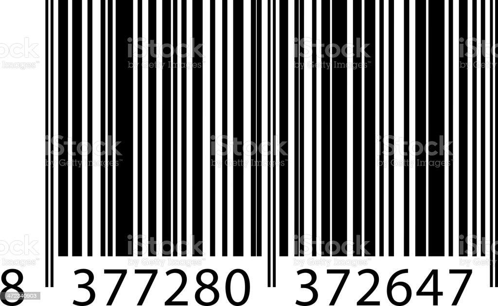 Bar code on white background royalty-free stock vector art