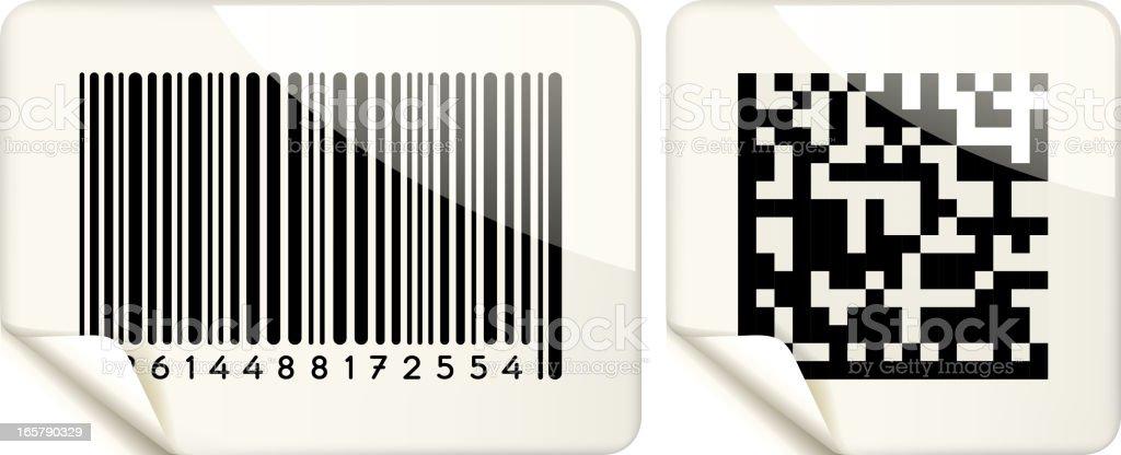 bar code paper royalty-free stock vector art