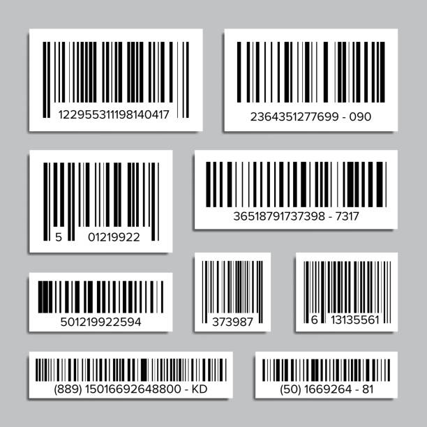 Bar Code Set Vector. Abstract Product Bar Codes Icons For Scanning. UPC Label. Isolated Illustration vector art illustration