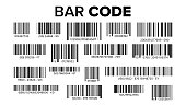 Bar Code Set Vector. Universal Product Scan Code. Isolated Illustration