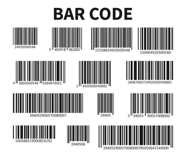 Bar Code Set Vector. Universal Product Scan Code. vector art illustration