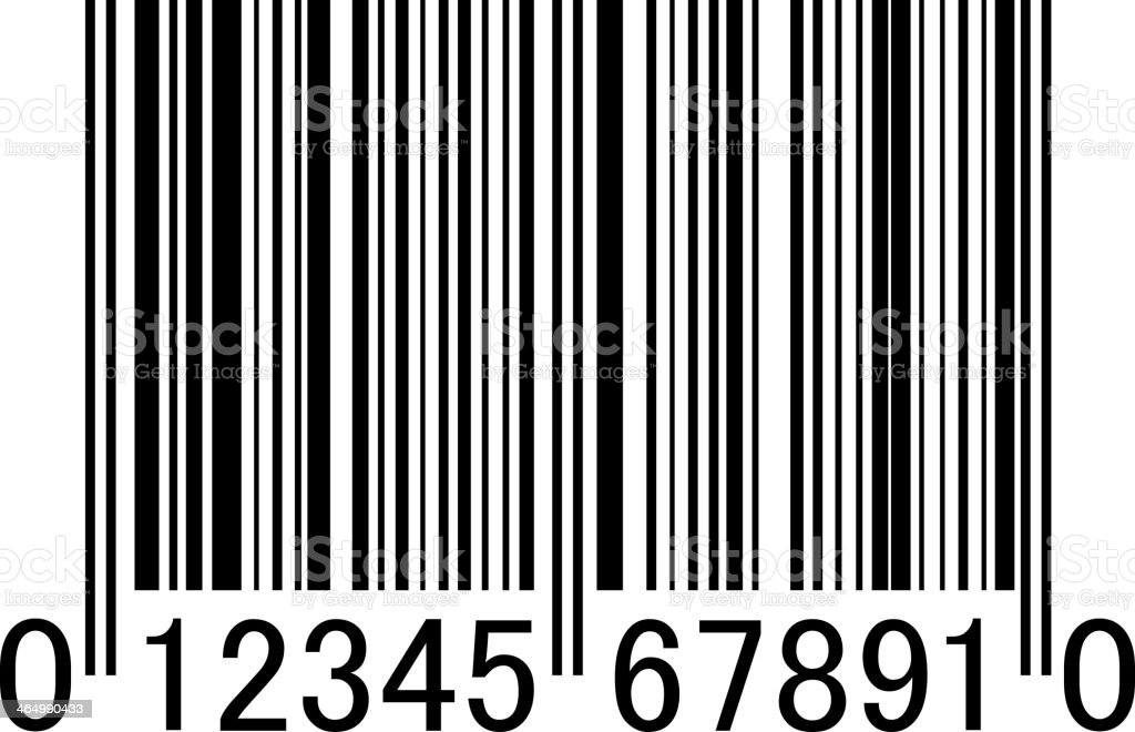 Bar code. Vector illustration. vector art illustration