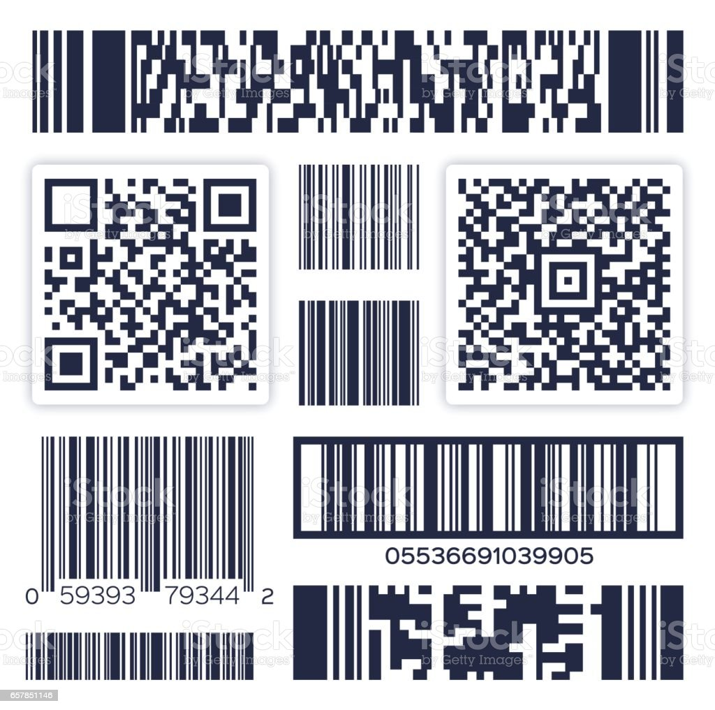 Bar Codes vector art illustration