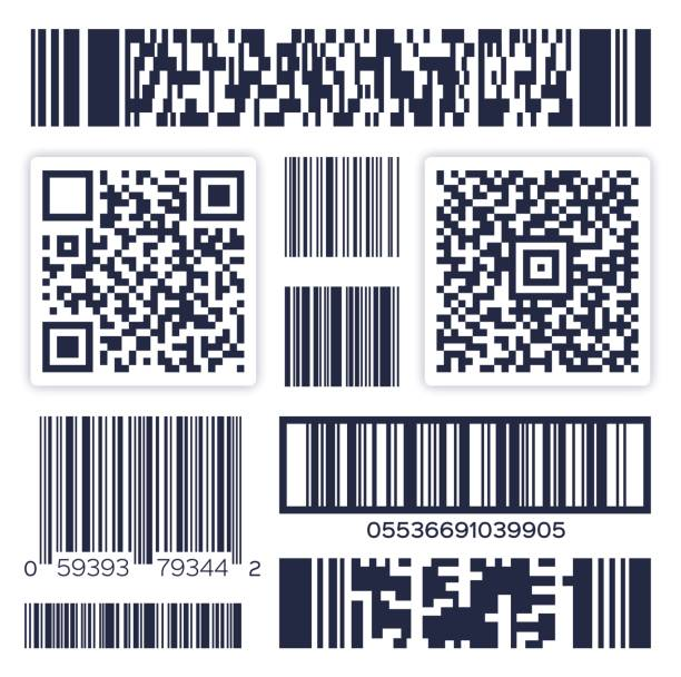 illustrazioni stock, clip art, cartoni animati e icone di tendenza di bar codes - logistica