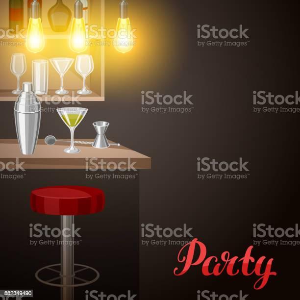 Bar counter in pub or night club illustration of interior with and vector id882349490?b=1&k=6&m=882349490&s=612x612&h=2icfxjftturg8da6bzcnadbxiridu3kchcvo06rj5wc=