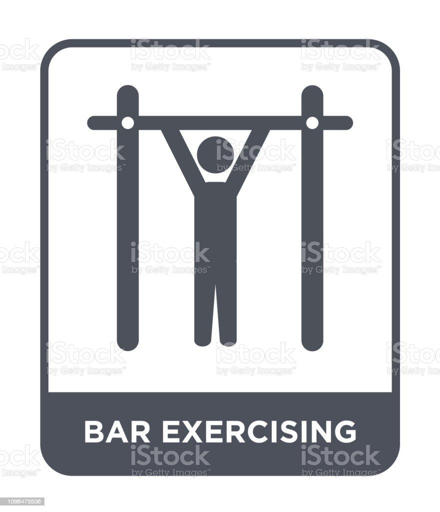 bar exercising icon vector on white background, bar exercising trendy...