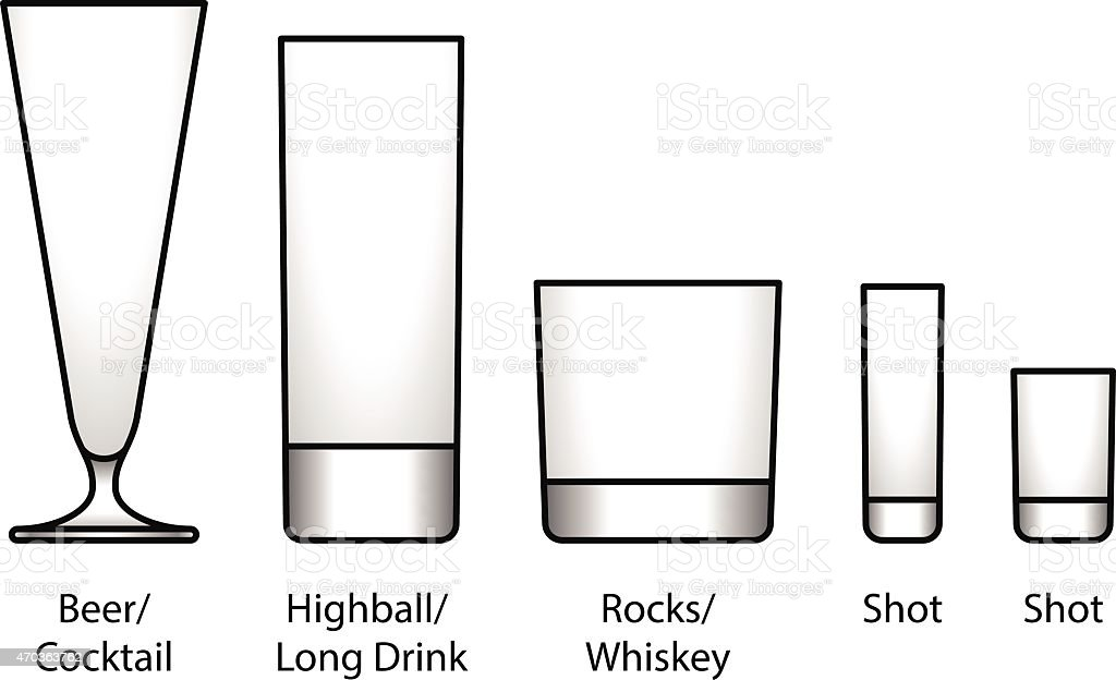 Bar Glasses vector art illustration