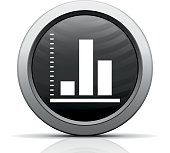 Illustration includes a white, Bar Graph icon on a black, circle shape, color button on a white background.