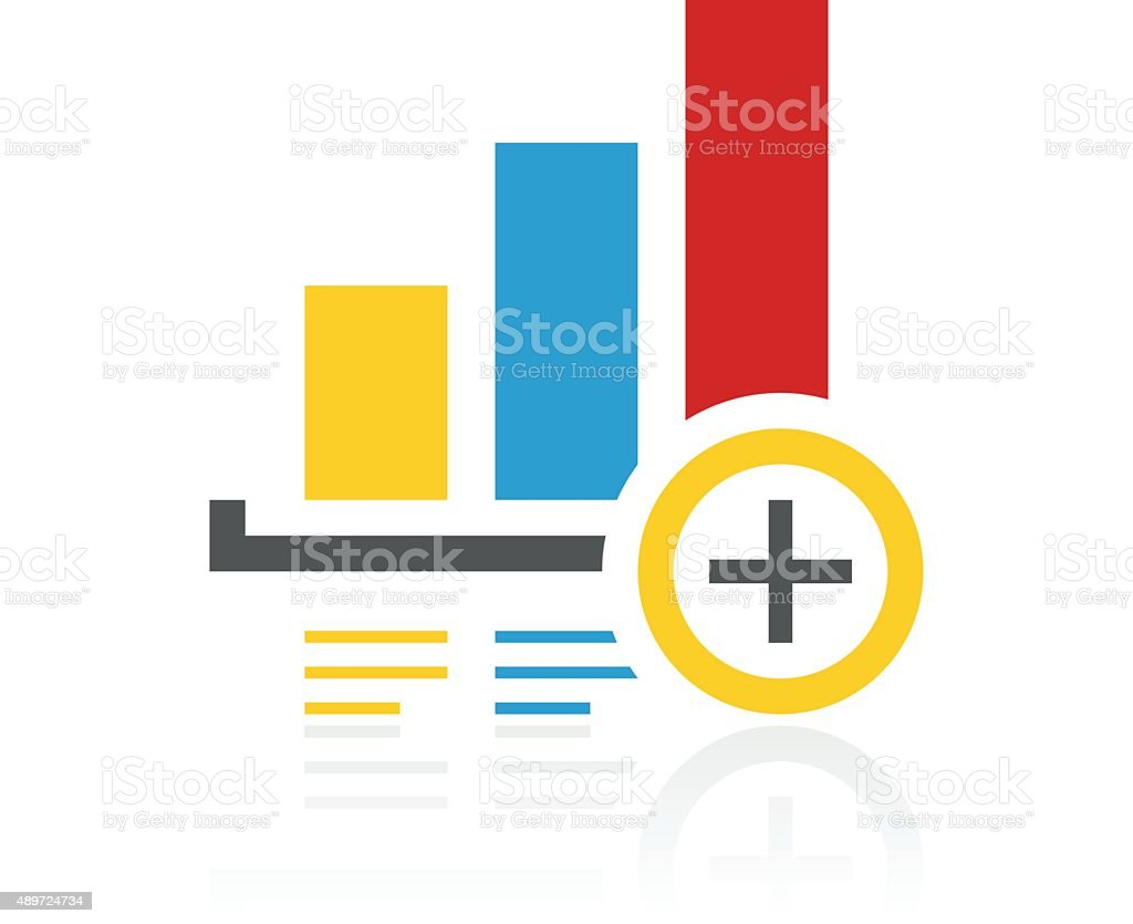 bar graph icon on a white background color series stock vector art rh istockphoto com