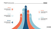 Bar graph with five arrows. Diagram, comparison graph, correlations. Marketing concept. Can be used for annual reports, business and finance presentations, web design