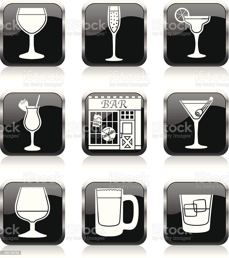 bar icons vector art illustration