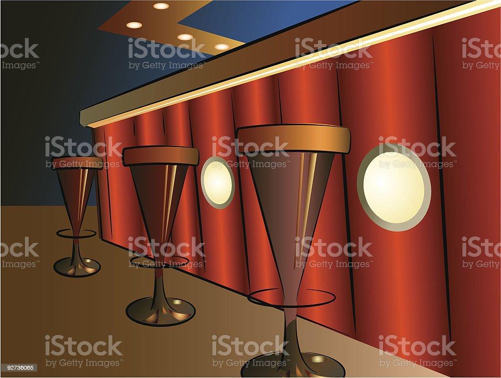 bar interior - Royalty-free Abstract stock vector