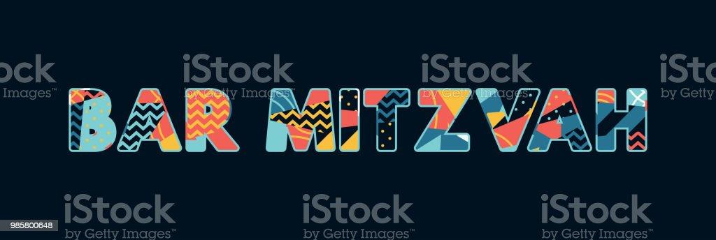 Bar Mitzvah Concept Word Art Illustration vector art illustration