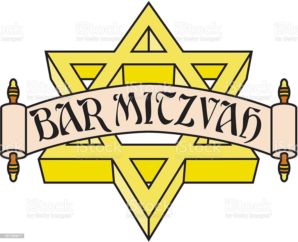 Barmizwaemblem Stock Vektor Art und mehr Bilder von Bar Mizwa ...